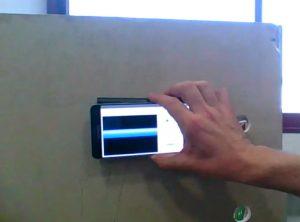 Walabot sensor, app funciona